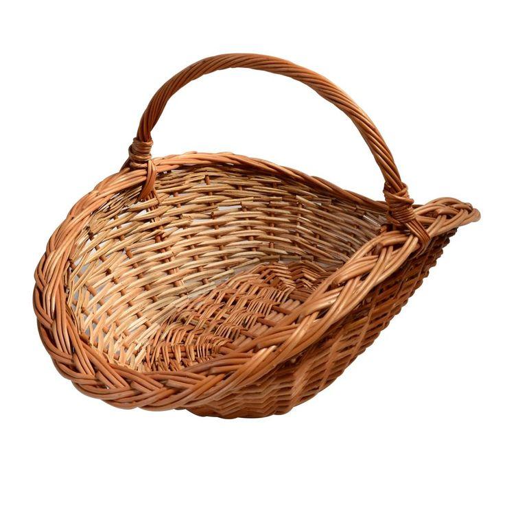 Large Wicker Basket with Handle Oval fruit hamper