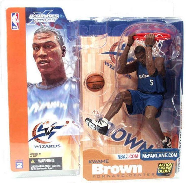 Kwame Brown NBA Washington Wizards McFarlane action figure NIB