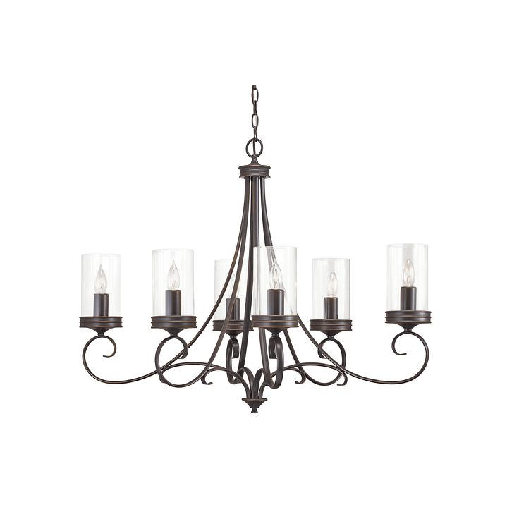 Diana 6 Light Chandelier in Olde Bronze
