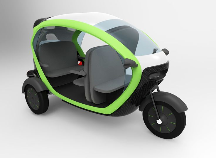 Design Contest by the Department of Energy to design an E-trike for public transportation.  A three wheeled electric Vehicle  Showcase a modern tricycle