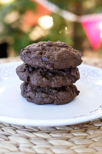 Double Chocolate Peppermint Cookies – Gluten-free and Dairy-free from Tasty Yummies