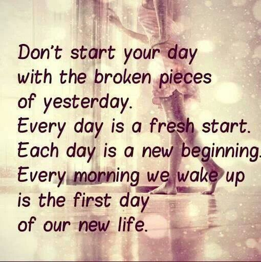 Beginning Relationship Quotes: Each Day Is A New Beginning.