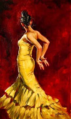 Check out our All Things Art Board on Pinterest. This piece depicting a #flamenco dancer was created by Andrew #Atroshenko