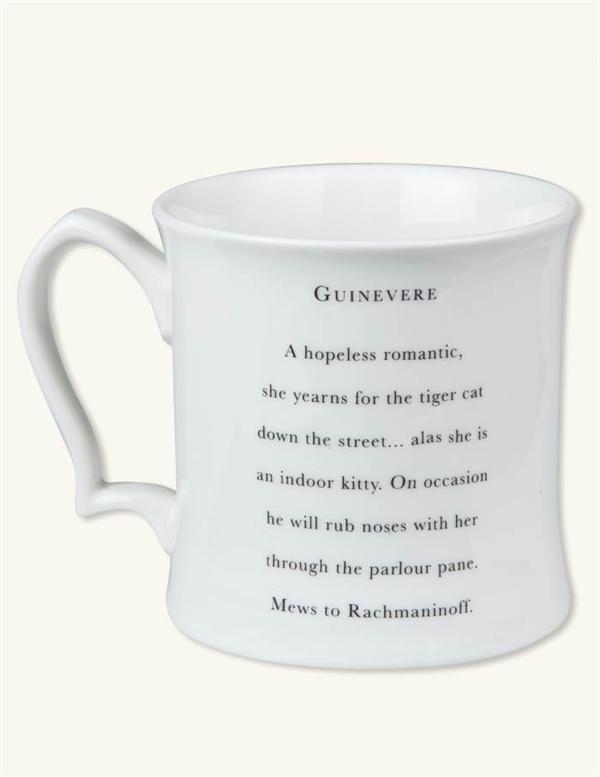 GUINEVERE ANIMAL FANCY MUG - Victorian Cat Coffee Mug