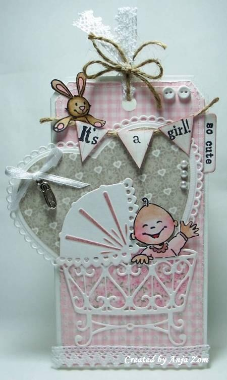 Anja Zom kaartenblog Great Baby card and taGS. SO CUTE