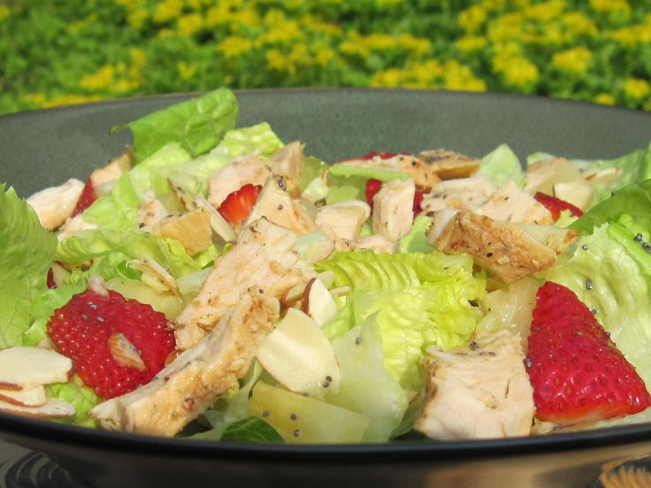 My Version of Panera's Strawberry Poppy Seed and Chicken Salad | Make Ahead Meals For Busy Moms