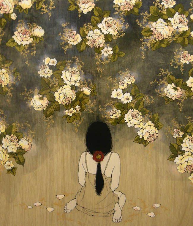 taishou-kun: Hata Eriko 秦絵里子 aka Qin Eriko Kyou mo yoru ga ochite kuru 今日も夜がおちてくる (Today also, night falls) - 2009