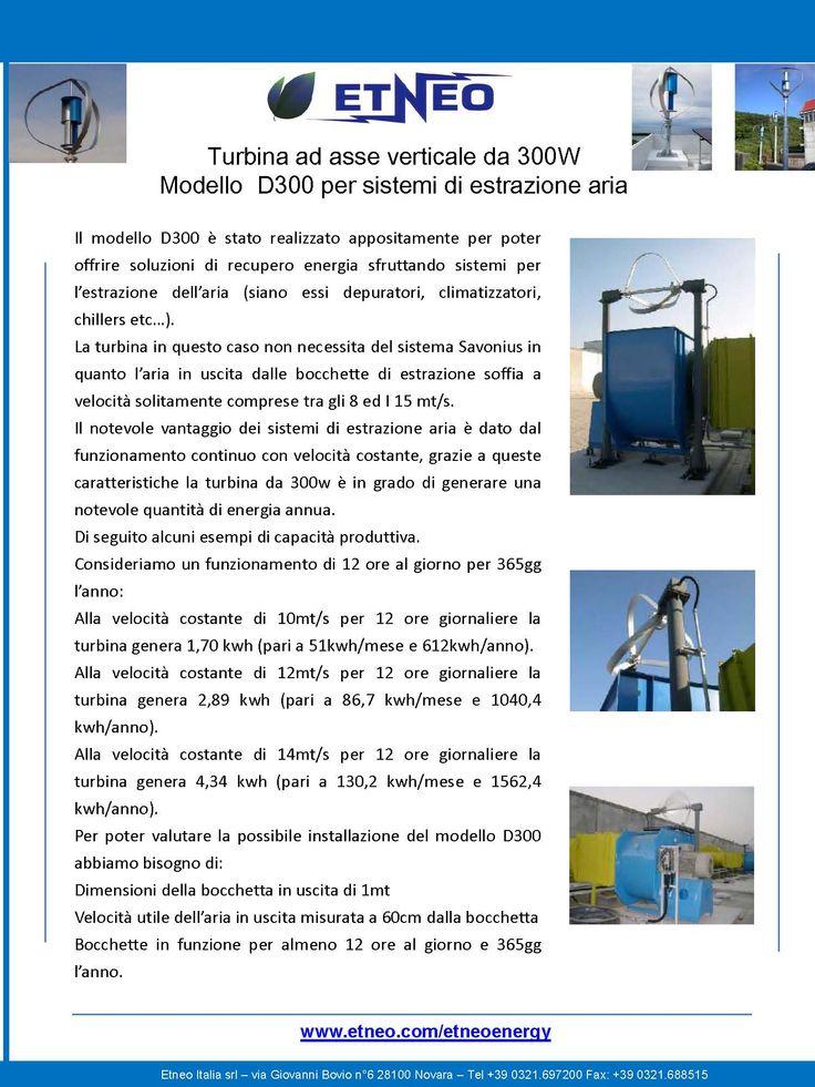 Generatore eolico modificato per recupero energia da camini di estrazione aria