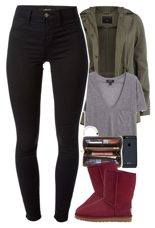 """""""cute as a Botton"""" by daisym0nste ❤ liked on Polyvore featuring Dorothy Perkins, MANGO, Louis Vuitton, UGG Australia and J Brand"""