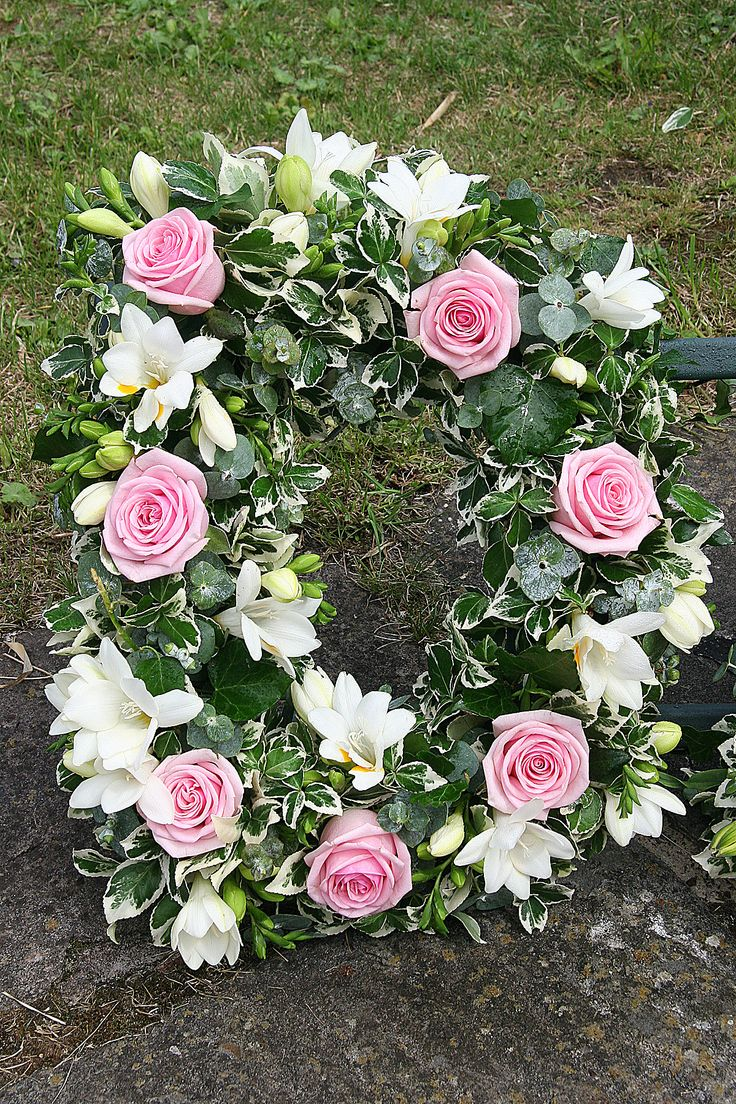 302 best funeral images on pinterest flower arrangements funeral flowers close up of the letter d in a funeral tribute from children to dhlflorist Choice Image
