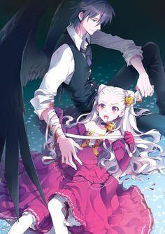 Anime angel boy and demon girl love anime dark angel - Dark anime couples ...