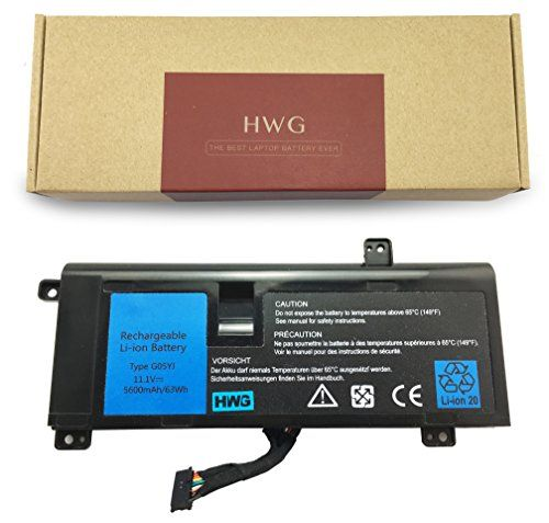 HWG Laptop Replacement Battery (G05YJ) For DELL Alienware 14 A14 M14X R3 R4 Series Alienware 14D-1528 Alienware G05YJ 0G05YJ Y3PN0 8X70T