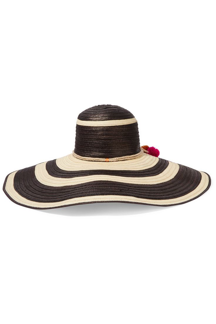 SOPHIE ANDERSON Corozon pompom-embellished woven straw hat€328