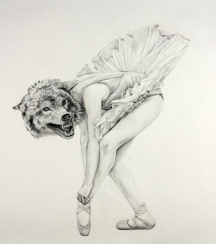 Cynthia Consentino - the eye leads you from ballet shoe to tutu and then the head is unexpected.