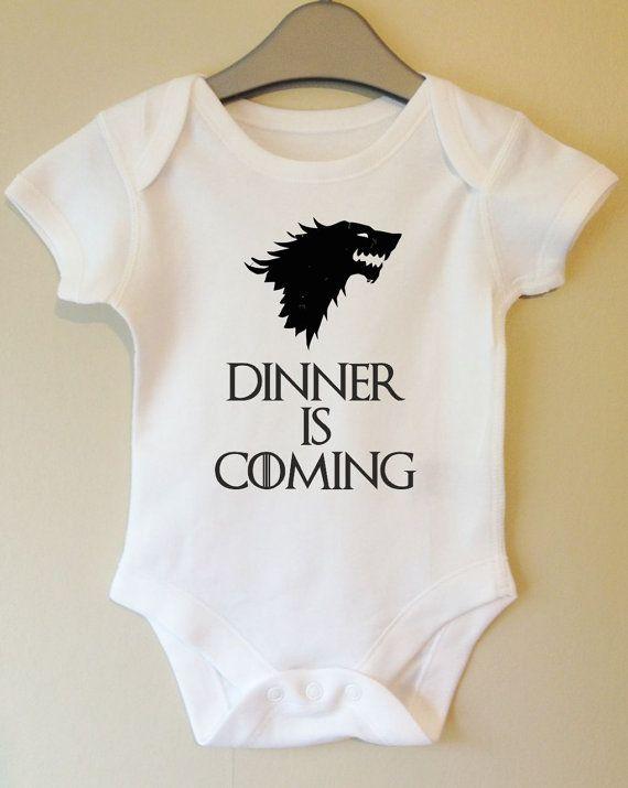 Dinner is Coming - Game of Thrones inspired baby body/vest/onesie