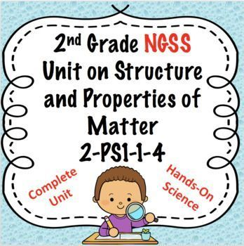 This unit covers ALL of the NGSS for the 2nd grade strand of PS 1-4. This unit includes hands-on 5 E lessons, interactive notebook flaps, a non fiction article, response page, task cards, integrated art activities and sorting card center activities.