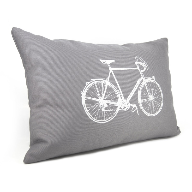 Bicycle Print Throw Pillow : 17 Best images about textiles-vintage bikes on Pinterest Classic style, The penny and Pillow ...