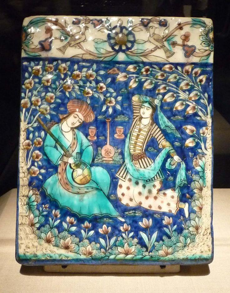 19th.century tile Iran