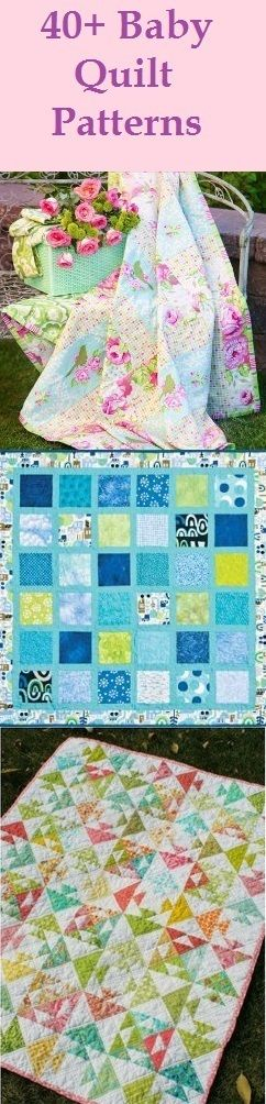 40+ Baby Quilt Patterns. Keep your little one cozy with quilt patterns for boys and quilt patterns for girls. Plus, these make great baby shower gifts!