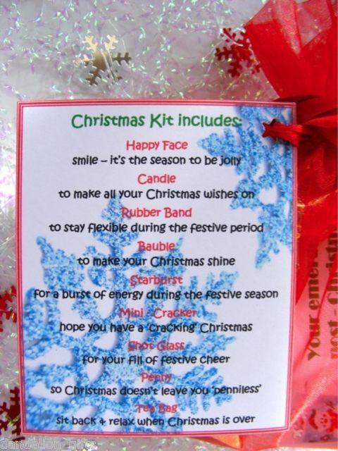 Personalised Secret Santa Christmas Survival Kit Gift Card Present Thank You | eBay