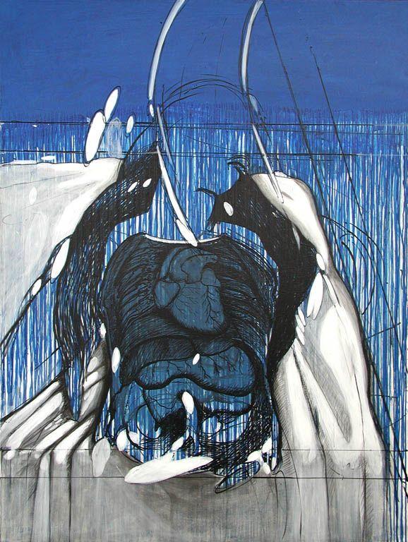 Ismael Frigerio - Serie de las construcciones - Óleo sobre tela