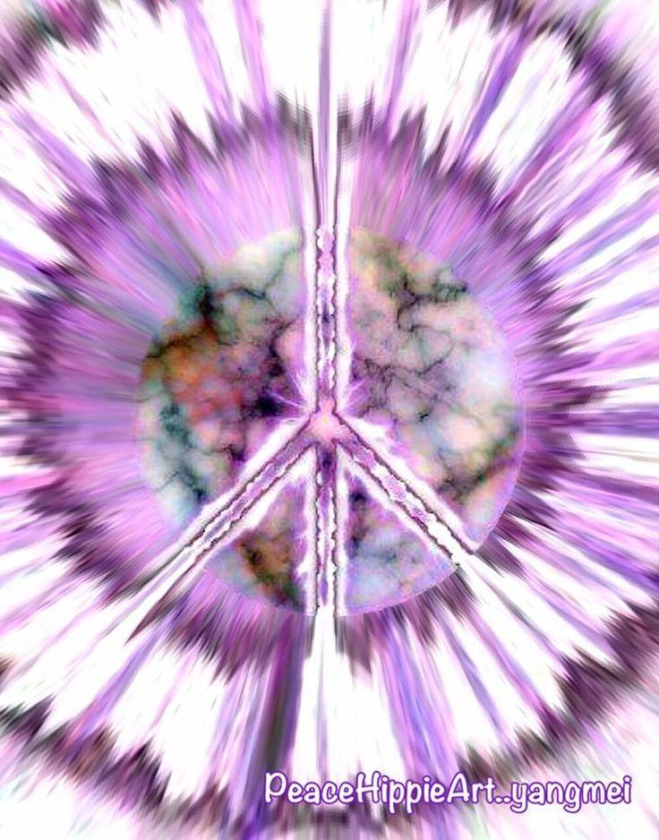 ➳➳➳☮American Hippie - Tie Dye Peace Sign