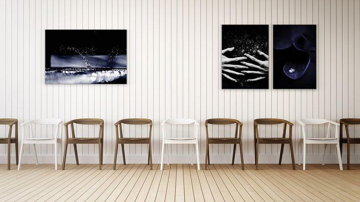 """Fire. Water. Air. Earth. Art."" Set of 6 Artworks  #Arthewall"