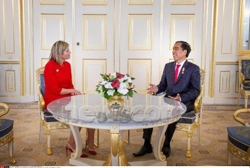 Royals & Fashion - Queen Maxima met the President of Indonesia during an audience at the royal palace in The Hague.
