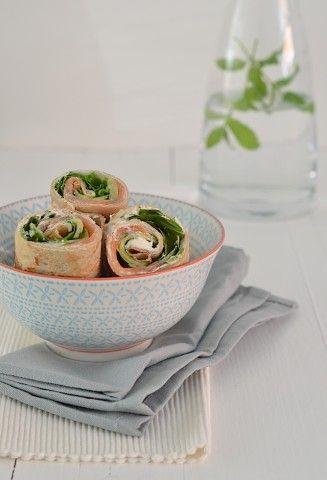 Lekker en gezond recept voor #boekweitwrap met zalm en ricotta. #healthy #buckwheat tortilla