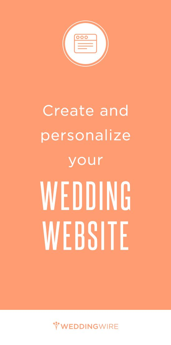Sign up to get started on your free wedding website!