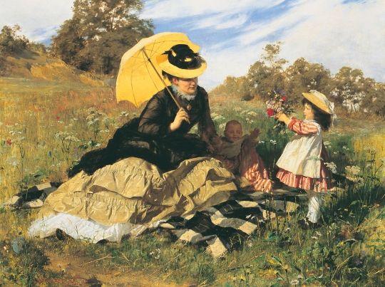Benczúr Gyula - Nyári Piknik, 1876