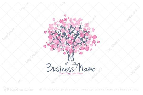 Cherry Blossom Tree Logo Tree Logos Cherry Tree Blossom Trees