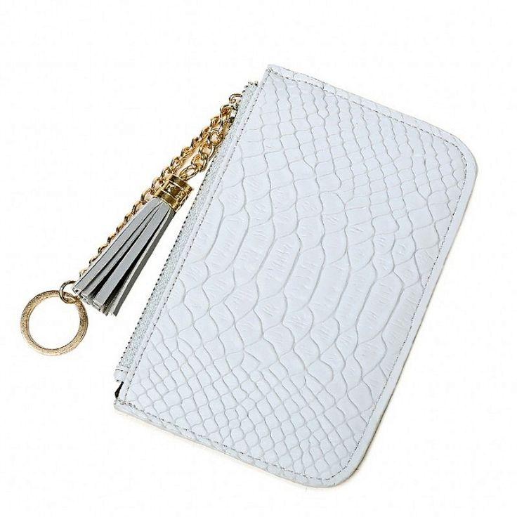 Sottile donne Portamonete borsa del portafoglio Cerniera Titolare della Carta Portachiavi donne borsa Rosa Cash pacchetto della carta studente ragazza della borsa sacchi di denaro