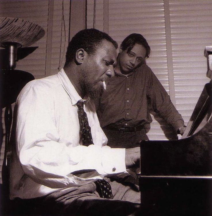 Thelonious Monk and Horace Silver, from the Sonny Rollins Volume Two session, Hackensack NJ, April 14 1957 (photo by Francis Wolff)