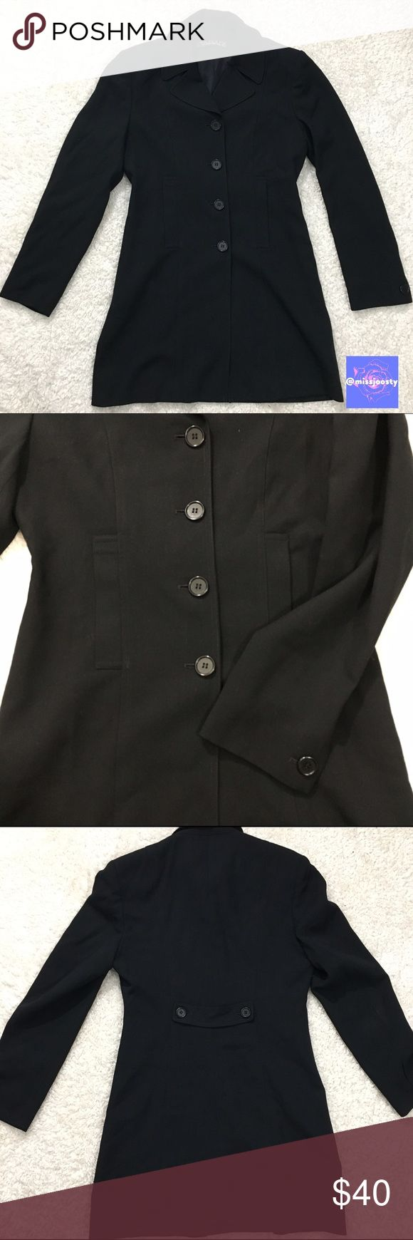Tahari Black Suit Jacket Tahari jacket is gently used without flaws. Material provided in photo, please let me know if you have any questions-- more than happy to answer them for you! Bundle and save 15%💕✨ Tahari Jackets & Coats