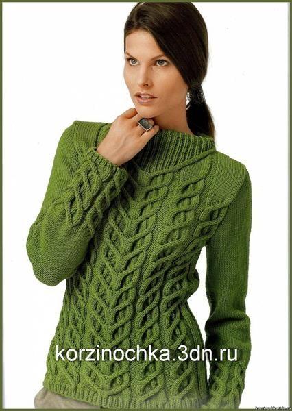 Модели женских вязанных свитеров с описанием