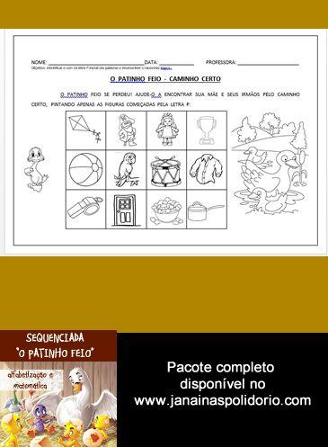 """Pacote de atividades sequenciadas com 14 páginas que se baseia no conto """"O Patinho Feio"""". Confira mais detalhes no link http://www.janainaspolidorio.com/sequenciada-o-patinho-feio.html"""