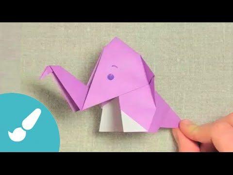 Elefante origami fácil. Origami elephant Cómo hacer un elefante en origami paso…