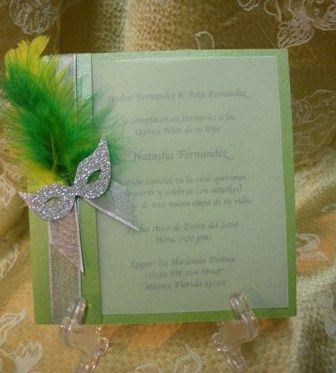 Masquerade invite-this site has tons of decorating ideas too