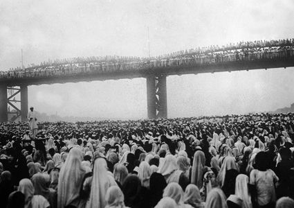 Civil disobedience meeting, Bombay 1930.