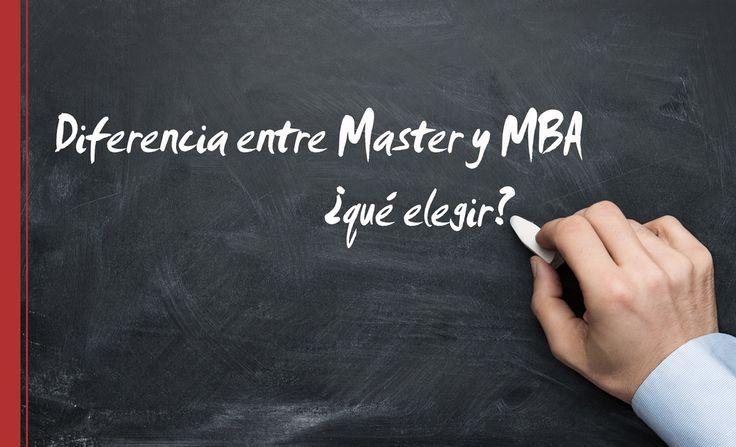 La diferencia entre un master y un MBA suele surgir cuando acabamos de terminar la carrera universitaria y estamos pensando en continuar nuestra formación.