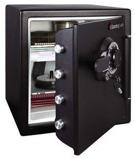 Advance Safe Sentry Fire Safe Model SFW123CS by Advance Safe. $399.00. The Sentry Safe is designed to protect documents, digital media and other valuables from fire, water and theft. 60 percent bigger bolts than traditional safes and a pry resistant hinge bar provide additional security against unauthorized access.