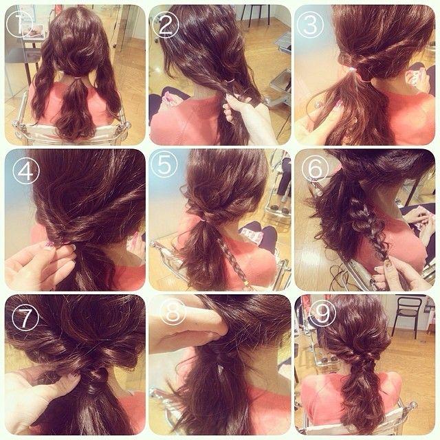アレンジプロセスです♡  mikaちゃん協力ありがとう♡♡ ①サイドの髪は残してバックの髪を1つに結びます。  ②サイドの髪は2回転くらいゆるくかるくねじる  ③両サイドを1つに結びクルリンパします。  ④真ん中らへんをゆるませてゴムが見えないようにします。  ⑤バックの髪を1束取り、三つ編みします。  ⑥⑤をゴムで結ぶ前にゆるませておくとやりやすいです。  ⑦三つ編み部をぐるっと巻き付けていきます。  ⑧巻き付けながらちょっとずつピンで固定していきます。  ⑨全体バランスみながらポイントでゆるませて完成です。  ベースはストレートアイロンで波ウェーブつくってからアレンジしてます♡  スタイリング剤は今回使ってません。  説明うまくできてませんが(>_<) ちょっとでもお役に立てれば嬉しいです♡  いつもありがとうございます♡  #hair #hairset #hairstyle #hairarrange #arrange #wadamiarrange #アレンジ#ヘアセット#ヘアアレンジ#ヘアスタイル