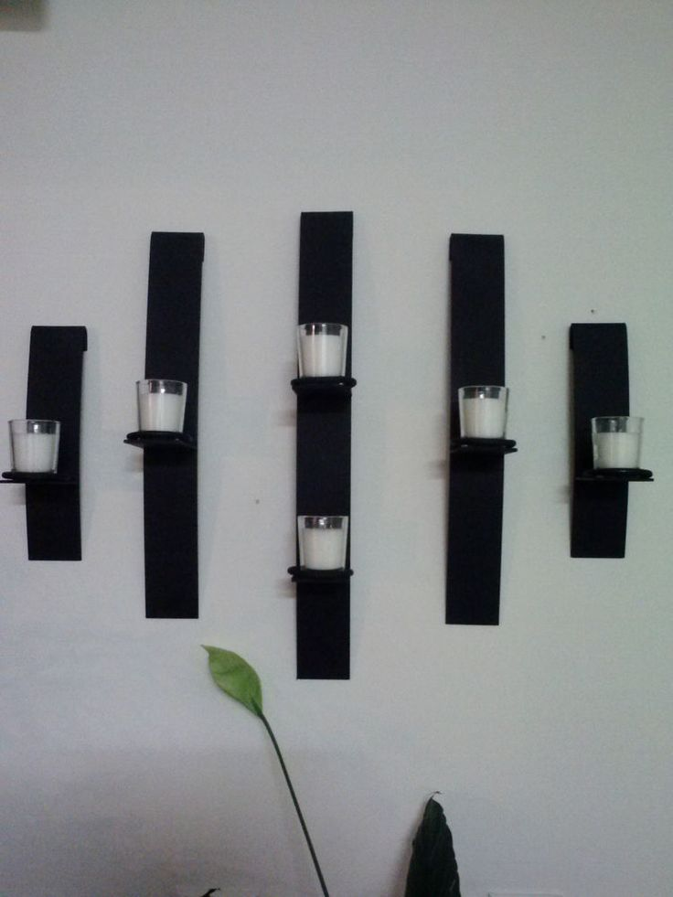 Metal modern art wall mount candle votive holder sconce - Candelabros para pared ...