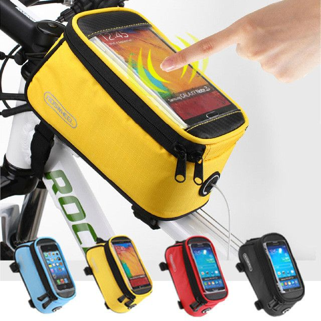 ROSWHEEL Outdoor Waterproof Cycling Bicycle Bag Touchscreen Phone Case