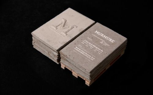 concrete business cards. seriously awesome