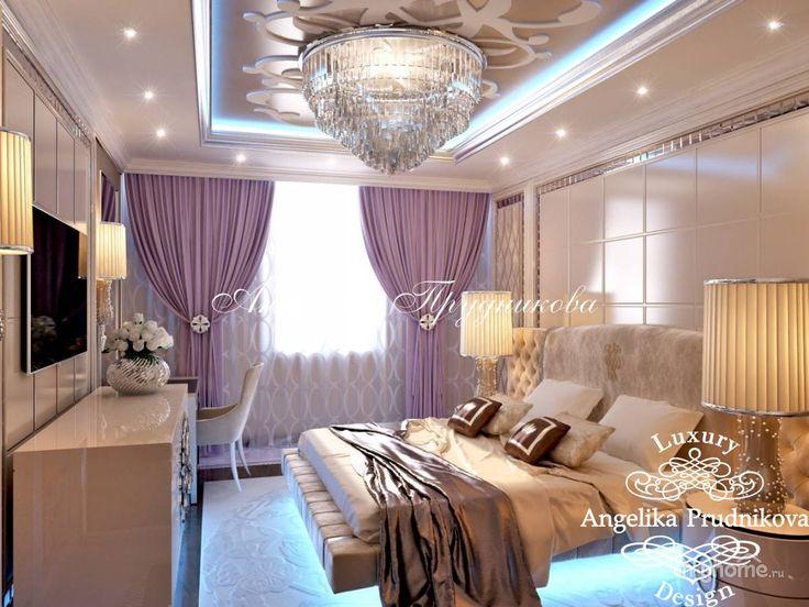 Дизайн квартиры в стиле арт-деко в ЖК «Эдельвейс». Фото интерьеров. Спальня