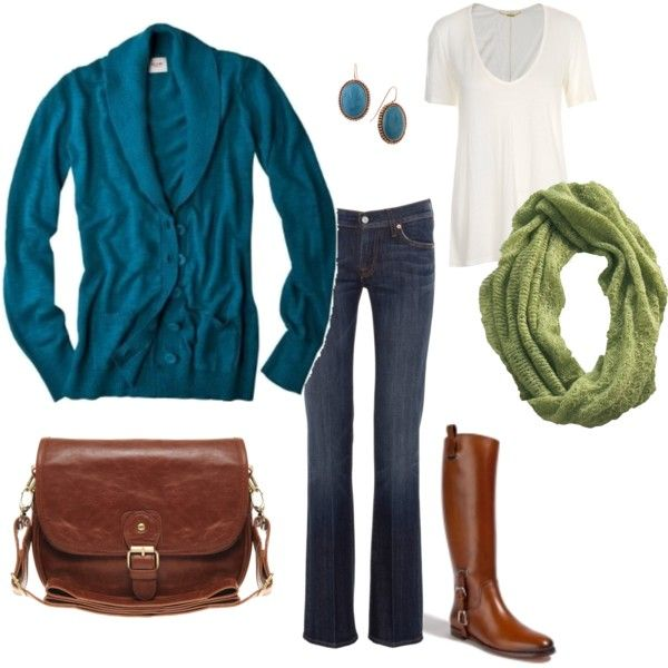 Casual OutfitColors Combos, Casual Outfit, Fall Style, Clothing, Blue Green, Fall Recipe, Fall Outfit, Boots, Fall Wardrobe