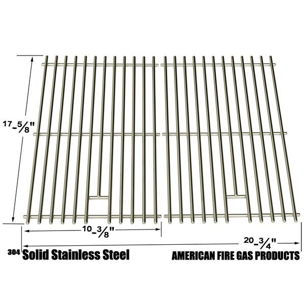 2 PACK STAINLESS STEEL COOKING GRATES FOR BACKYARD CLASSIC  BGB390SNP GRILL MODELS  Fits Compatible Backyard Classic Models :   BGB390SNP, GR3055-014684