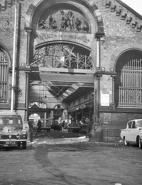 Smithfield Market, Manchester. Now Northern quarter
